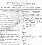 Attestation Papers – Gerald's attestation report, page one