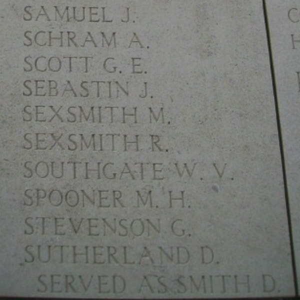 Inscription on Menin Gate Memorial – Inscription on the Menin Gate … photo courtesy of Marg Liessens