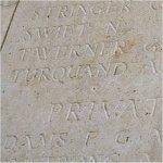 Inscription – Turquand's name on the Menin Gate