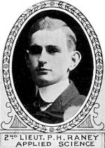 Photo of Paul Raney – From: The Varsity Magazine Supplement Fourth Edition 1918 published by The Students Administrative Council, University of Toronto.   Submitted for the Soldiers' Tower Committee, University of Toronto, by Operation Picture Me.