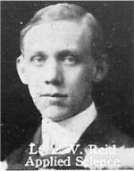 Photo of Ellis Reid – From: The Varsity Magazine Supplement published by The Students Administrative Council, University of Toronto 1916.   Submitted for the Soldiers' Tower Committee, University of Toronto, by Operation Picture Me.