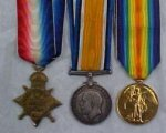 First World War Medals – 1914/15 Star, British War Medal and Victory Medal (Inter-allied War Medal)