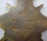 1914/15 Star – Details on reverse of medal