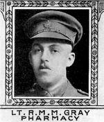 Photo of Robert Gray – From: The Varsity Magazine Supplement Fourth Edition 1918