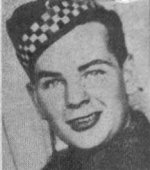 Photo of Emmanuel Markus Sparrow – Son of Cecil John Sparrow and Helen Sparrow.  Husband of Helen M. Sparrow.  He died on Wednesday January 3, 1945 at the age of 23.  Buried at the Villanova Canadian War Cemetery, Italy, in Section III, Row B, Grave 5.