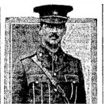 Photo 3 of Charles Alexander Moss – Photograph of Major Charles Alexander Moss accompanying a lengthy tribute in the Toronto Star's October 25th, 1916 edition.  The death of Major Moss was deeply felt in the city of Toronto.