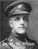 Photo of Matthew Wilson – From: The Varsity Magazine Supplement published by The Students Administrative Council, University of Toronto 1916.   Submitted for the Soldiers' Tower Committee, University of Toronto, by Operation Picture Me.