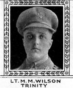 Photo of Matthew Wilson – From: The Varsity Magazine Supplement Fourth Edition 1918 published by The Students Administrative Council, University of Toronto.   Submitted for the Soldiers' Tower Committee, University of Toronto, by Operation Picture Me.