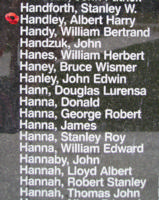 Memorial – Flying Officer Albert Harry Handley is also commemorated on the Bomber Command Memorial Wall in Nanton, AB … photo courtesy of Marg Liessens