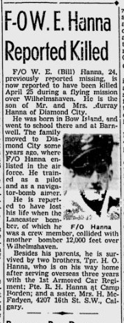 Newspaper clipping – From the Calgary Herald. Submitted of the project, Operation: Picture Me