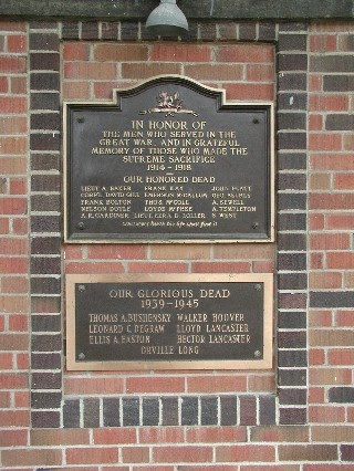 Memorial Plaque – Memorial, Rodney Ontario