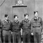 Photo of William George Parkinson – The crew of HZ519 from left to right included:  F/Sgt Ernest A. Star (Pilot) who has no known grave, F/Sgt John Kopchuk (Navigator), F/Sgt Casimir F. Orlinski (Wireless Operator/Air Gunner),