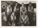 Group photo – G. Edmonds Crew #433 Squadron with their Halifax 111 LV-971 Code BM-N at Skipton on Swale Airfield February 1943. 