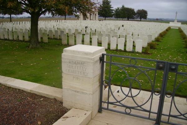 Cemetery – Entrance - Adanac Military Cemetery … photo courtesy of Marg Liessens