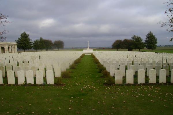 Cemetery – Adanac Military Cemetery … photo courtesy of Marg Liessens