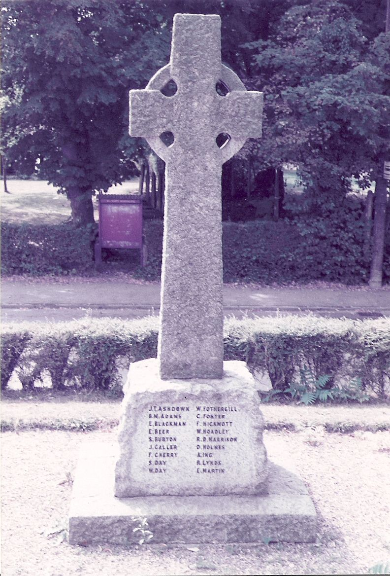 Memorial – War memorial, Longfield, Kent, England UK. Sidney's parents lived here until they emigrated in turn - 1922.