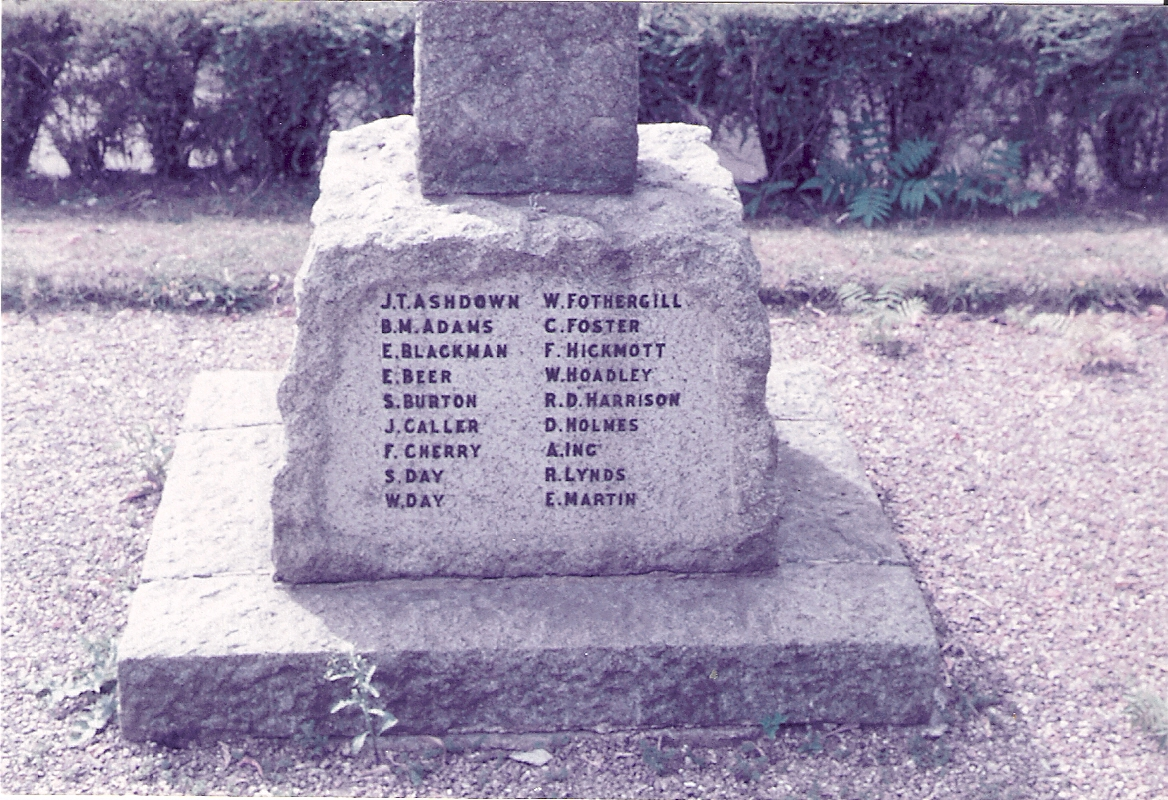 Inscription – Inscription on War memorial, Longfield, Kent, England UK. Sidney's parents lived here until they emigrated in turn - 1922.