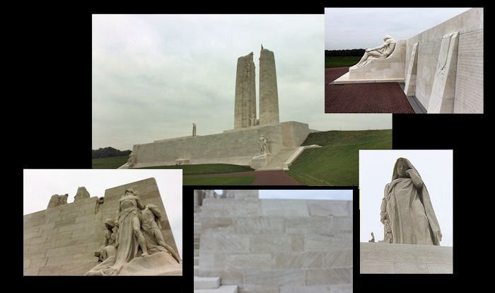 Memorial – Canada's Vimy Memorial, located approximately 8 kilometres to the north-east of Arras, France. May the sacrifice of so many never be forgotten. (J. Stephens)
