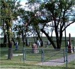Cemetery – Photo of Bru Lutheran Cemetery, Glenboro, Manitoba where Nursing Sister Frederickson is buried. Courtesy of Craig B.Cameron, September 2005.