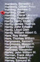 Memorial – Flight Sergeant Oliver Harding is also commemorated on the Bomber Command Memorial Wall in Nanton, AB … photo courtesy of Marg Liessens