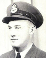Photo of Irving John Toppings – Inchkeith, Saskatchewan Royal Canadian Air Force Flight Officer, J14576 Killed in Action March 31, 1944 Age 21 Buried in Rheinberg, Germany