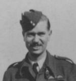 Group Photo – P/O Leonard George Weller (Wireless Operator) No 106 Squadron 1943 with Lewis Burpee (right).