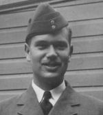 Photo of Lewis Burpee – Lewis Burpee at Rideau cottage after receiving wings 1940.