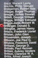 Memorial – Warrant Officer Class I Donald Stewart Brillinger is also commemorated on the Bomber Command Memorial Wall in Nanton, AB … photo courtesy of Marg Liessens