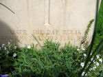 Epitaph – Epitaph on the grave marker of Capt Arthur Frederick Tongs in the Assissi War Cemetery, near Assissi, Italy.