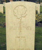 Grave Marker – Arthur F Tongs grave marker in Assisi War Cemetery