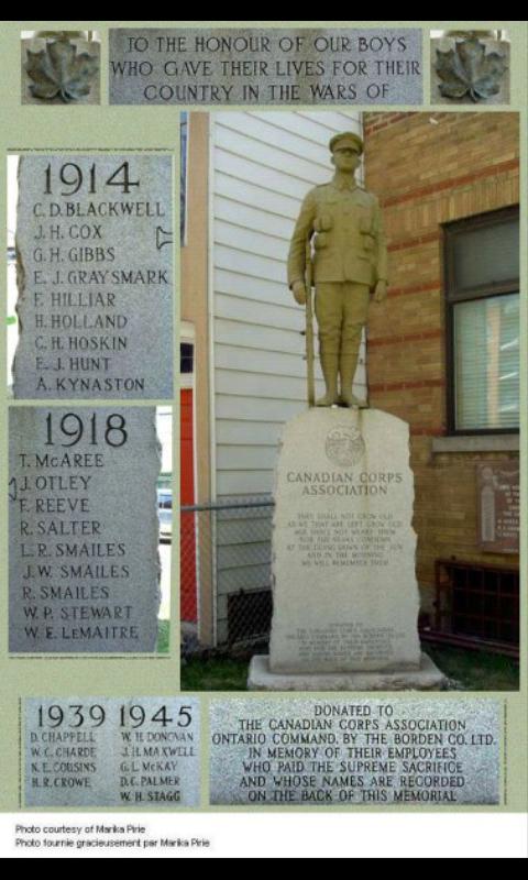 Memorial – Borden Co.