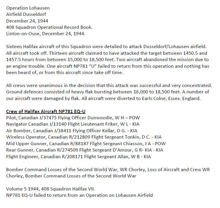 Details of the Crash
