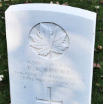 Grave Marker – A photograph of the headstone at the Beny-sur-Mer Canadian War Cemetery, located at Reviers, about 4  kilometres from Juno Beach in Normandy, France. May he rest in peace. (J. Stephens)