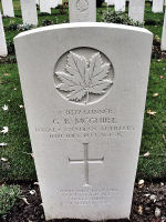 Grave Marker – The grave marker (2010) at the Beny-sur-Mer Canadian War Cemetery, located outside Reviers, about 4  kilometres from Juno Beach in Normandy, France. May he rest in peace. (K. Falconer & J. Stephens)