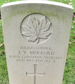 Grave Marker – The grave marker (2010) at the Beny-sur-Mer Canadian War Cemetery located outside Reviers, about 4 kilometres from Juno Beach in Normandy, France. May he rest in peace. (K. Falconer & J. Stephens)