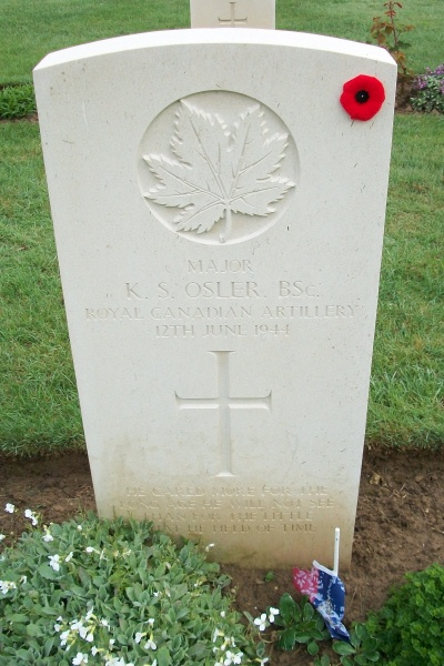 Grave Marker – Beny-sur-Mer Canadian War Cemetery - April 2017 … photo courtesy of Marg Liessens