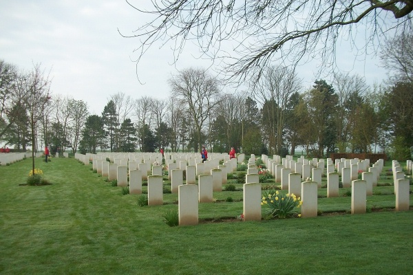 Cemetery – Beny-sur-Mer Canadian War Cemetery - April 2017 … photo courtesy of Marg Liessens