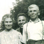 Family Photo – Albert Parsons with his mother (Lily Parsons nee:Clifford) and his uncle (Sydney Clifford). Photo taken in Milton Heights Ontario Canada Date Unknown