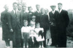 Group Photo – Parsons Family gathering after funeral for Richard Luther Parsons in July of 1937. Names are noted on back of the photo.