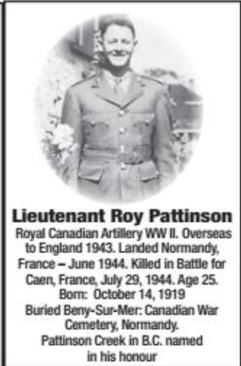 Photo of ROY PATTINSON – Submitted for the project, Operation Picture Me