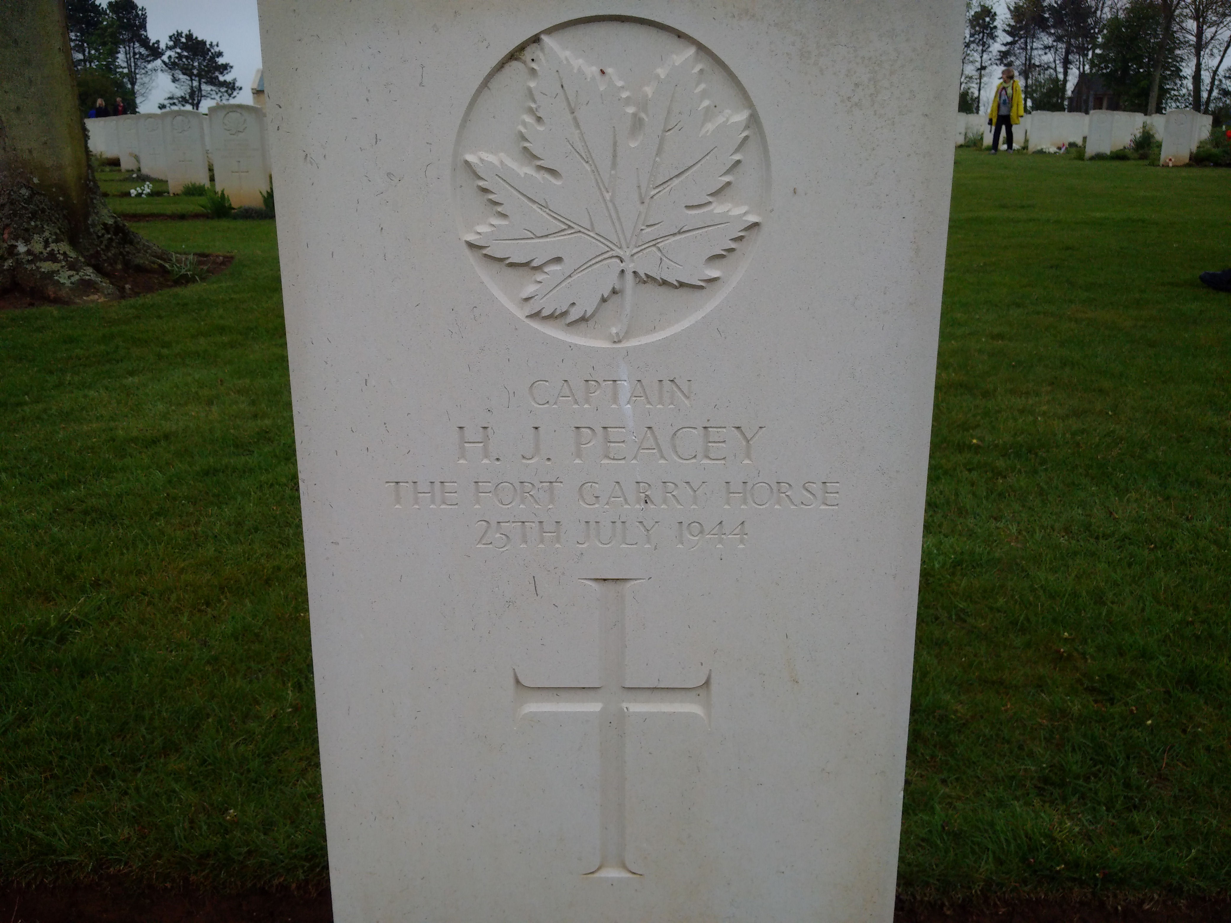 Grave marker – Took the picture during a Canadian Liberation Tour