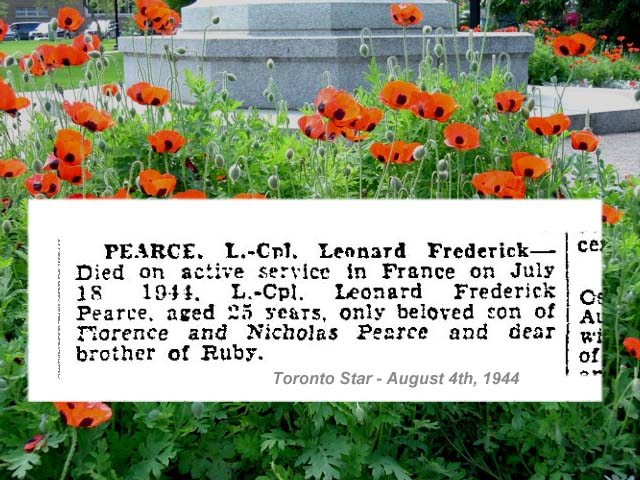 """Newspaper Clipping – """"Deaths on Active Service"""" - newspaper column."""
