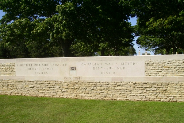 Cemetery – Beny-sur-Mer Canadian War Cemetery - August 2012 Photo courtesy of Marg Liessens