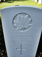 Grave Marker – The new grave marker as it appeared in 2010 at the Beny-sur-Mer Canadian War Cemetery, located outside Reviers, about 4  kilometres from Juno Beach in Normandy, France. May he rest in peace. (K. Falconer & J. Stephens)