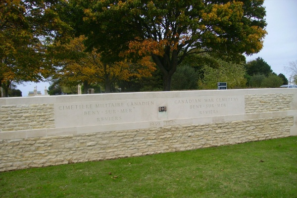 Cemetery – Entrance - Beny-sur-Mer Canadian War Cemetery … photo courtesy of Marg Liessens