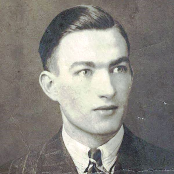 Photo of John Montgomery Simpson – John M. Simpson ca, 1939. Age 18. Employed as Jewelry Polisher or Jeweler's Apprentice.