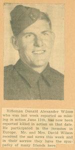 Photo of DONALD ALEXANDER WILSON – newspaper MIA-KIA
