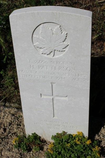 Grave Marker – Grave marker - Gradara War Cemetery - May 2013