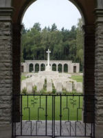 Cemetery – A view of the main cross inside the Cemetery.  Dave Morris Tadcaster England.