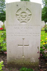 Grave Marker – Gravemarker of M.R. Cantin at the Berlin War Cemetery